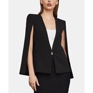 HALSTON Black Suiting Cape Blazer size 6